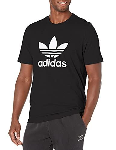 adidas Originals Men's Adicolor Classics Trefoil T-Shirt, Black/White, X-Small