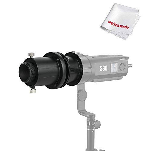 Godox SA-P Projection Attachment with a SA-01 85MM Lens, for Godox S30 Focusing LED Video Light, W/Pergear Cloth