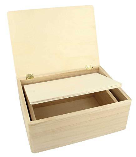 Artemio 14002310 Set de 2 Boîtes Rectangulaire, Bois, Beige, 22 x 9 x 16 cm