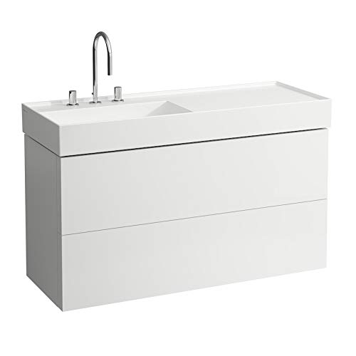 Laufen Mueble de Kartell, Apto para Lavabo 813332, 2 cajones, 1180x600x450, Color: Nieve (Blanco Mate) - H4076480336401
