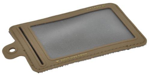 HAZARD 4 ID-Window-Patch(TM) Rubber 3D Hook Backed w/Company Logo (Small Model) (R) - Coyote