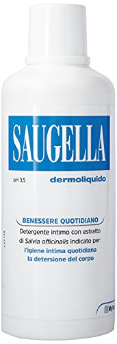 Saugella, Dermoliquido, Detergente Per L'Igiene Intima Quotidiana a base di Salvia Officinalis, 750...