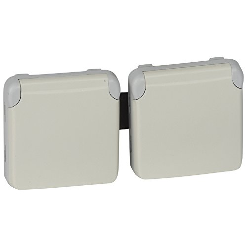 LEGRAND - Prises 2x2P+T horizontal précâblées composable blanc 16 A 250 V LEGRAND PLEXO 069642 - LEG-069642