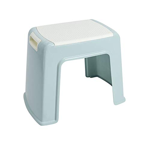 KKCF Asiento para Ducha Antideslizante Silla De Casa Taburete Cuadrado Estilo Japones Sencillo Ahorra Espacio El Plastico 2 Colores (Color : Azul, Tamaño : 30.5x39x30cm)