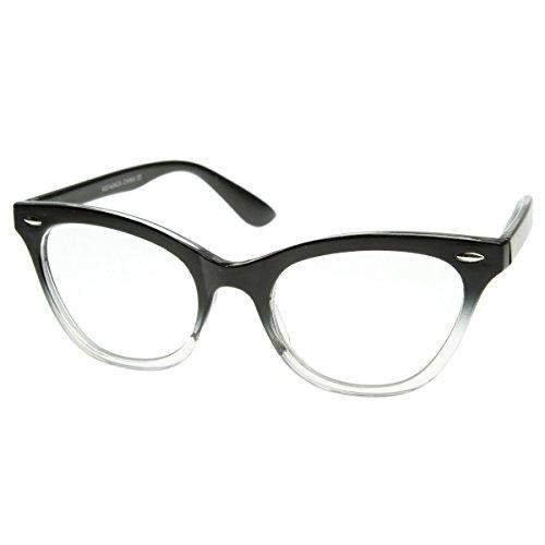 KISS Gafas neutrales CAT EYE mod. PIN-UP - marco óptico MUJER cult Rockabilly vintage - CRISTAL NEGRO