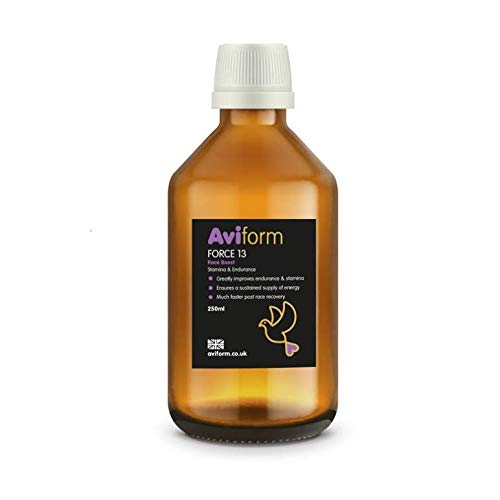 Aviform FORCE 13 | Vitamin B12 + DMG | Stamina & Endurance Supplement for Racing Pigeons 250ml