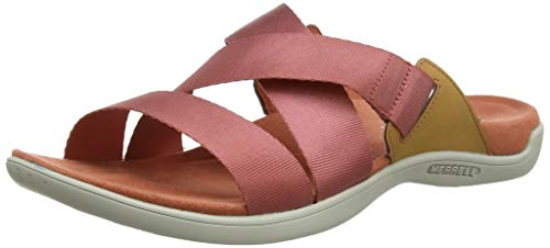 Merrell Damen District Maya Slide Sandalen, Rot (Redwood), 39 EU