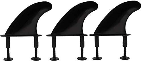 Namvo 3 aletas de surf de TPU suave y 6 tornillos de aletas para tabla de surf suave.