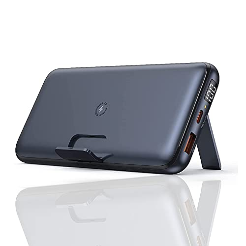 PWQ-01 Power Bank Carga rápida, 20000mAh Cargador Portátil Power Bank, Phone Charge 3.0, 18W PD Cargador Inalámbrico Batería Externa Powerbank 3 Salidas Tipo C, Compatible con iPhone, Tablet, etc
