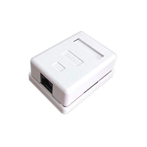 Duradero Conector RJ45 CAT5E CAT6 Caja de unión Caja de un solo puerto Caja de escritorio 1 puerto Adaptador de cable de red Ethernet Extensión PCB Tipo de cable para Internet, enrutador, Smart TV, co