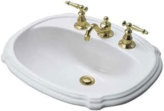 Portrait Drop-In Bathroom Sink with 4