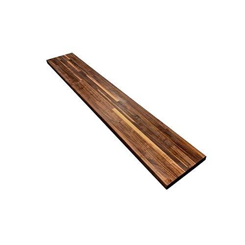 Walnut 1-1/2″ X 12″ X 72″ Butcher Block Wood Shelf Brown Natural Finish Made in USA