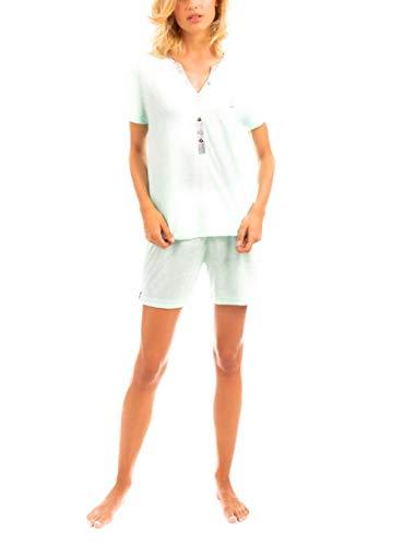 LOHE Pijama Chapitas Verde XL