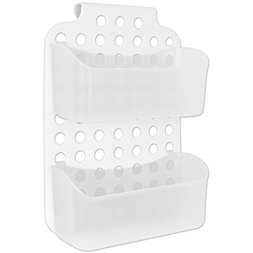 Duschregal weiß 2 Ablagen zum hängen Duschkorb Duschablage Ablage Badezimmer Hängeregal