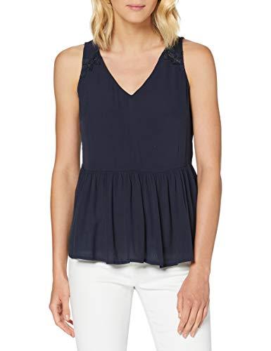 Naf Naf Menc47 Camiseta, Azul (Bleu Marine 567), 36 para Mujer