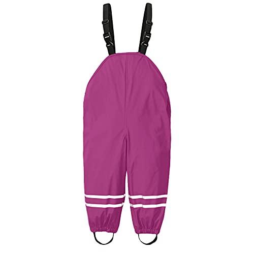 AWDX 2021 Dünne wasserdichte Winddichte und Atmungsaktive Regenhose für Kinder Kleinkind Kinder Jungen Mädchen Regen Latzhose Schlamm Jumpsuit Kleidung