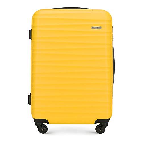 Robusta Maleta con Ruedas para Equipaje de Mano de Wittchen Amarillo ABS Carcasa rígida Trolley 4 Ruedas Cerradura de combinación