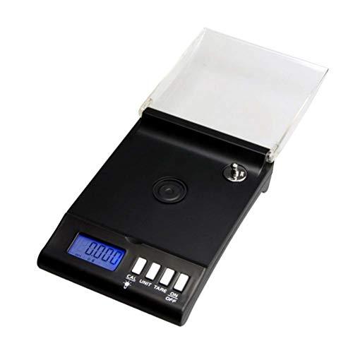 Hemobllo Mini Elektronische Schmuckwaage 30g / 0,001g Hohe Präzision Gold Schmuckwaage Balance Elektronische Digitale Taschenwaage (Schwarz)
