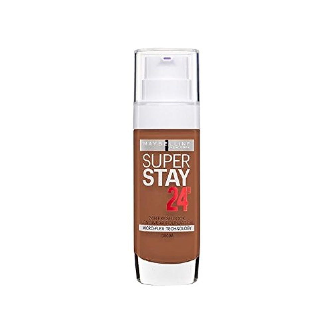 ライバルヒューズ仮称メイベリン 24時間リキッドファンデーション70ココア30ミリリットル x4 - Maybelline SuperStay 24h Liquid Foundation 70 Cocoa 30ml (Pack of 4) [並行輸入品]