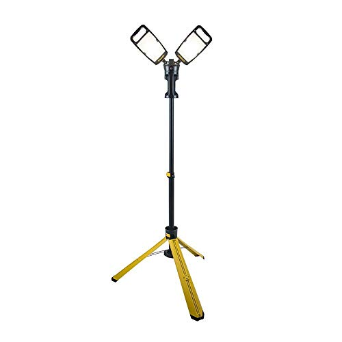 Stanley Led Work Light with Stand 7000-Lumen Portable Corded LED Portable Job Site Lighting 4000K...