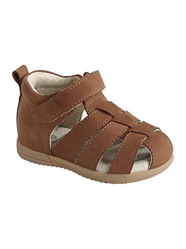 VERTBAUDET Lauflern-Sandalen für Baby Jungen, Leder braun 23