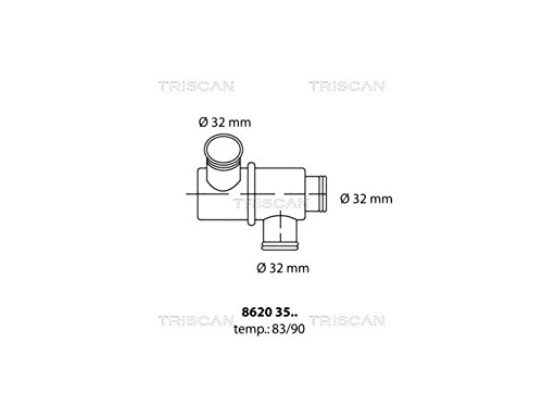 Triscan 8620 3590 Termostato, refrigerante