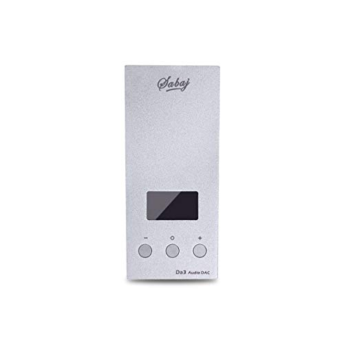 Sabaj Amplificatore Portatile Per Cuffie USB DAC Da3 Hi-res SABRE9018Q2C Schermo OLED DSD512 32bit/768kHz Argento