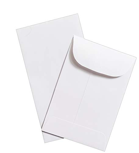 """Guardian #1 Coin Envelopes, 2-1/4"""" x 3-1/2"""", White, 50/Pack"""