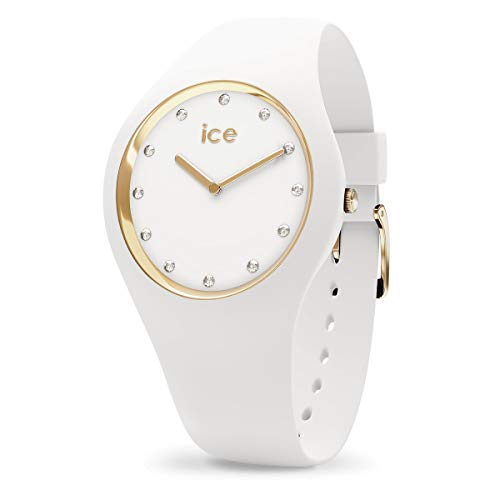 Ice-Watch - Ice Cosmos White Gold - Montre Blanche pour Femme avec Bracelet en Silicone - 016296 (Medium)