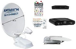 ANTARION - Kit de antena satélite automática (85 cm, G6+ ...