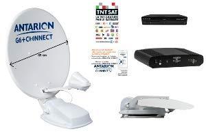 ANTARION - Kit de antena de satélite automático 85 cm G6+ Connect TNT Sat