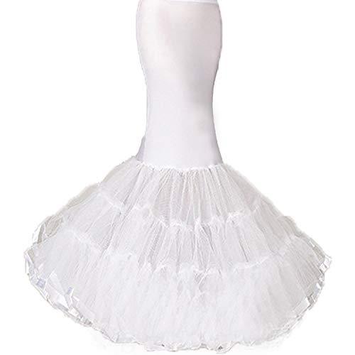 Women s 3 Layers Floor Length Trumpet Mermaid Petticoat for Mermaid Wedding Dress (White  Small/Medium)…