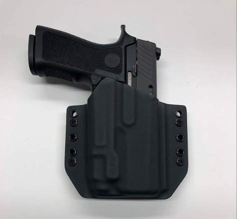 Black Kydex Holster Compatible with Sig P320 Compact Streamlight TLR-7