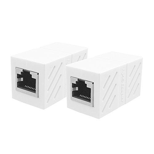 UGREEN Ethernet Kabel Verbinder RJ45 Patchkabel Kupplung Lan Kabel Verbinder Cat 6 Netzwerk Adapter geschirmte Modular Kupplung Netzwerkkoppler, 2 Stücke (Weiß)