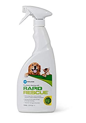 Rapid Rescue | Pet Odour Eliminator Urine Smell Remover | Natural Microbe Enzymatic Green Solution Probiotic Fast-Acting on Cat & Dog Stains on Carpets, Wood Floors, Cars, Rugs (1pk)