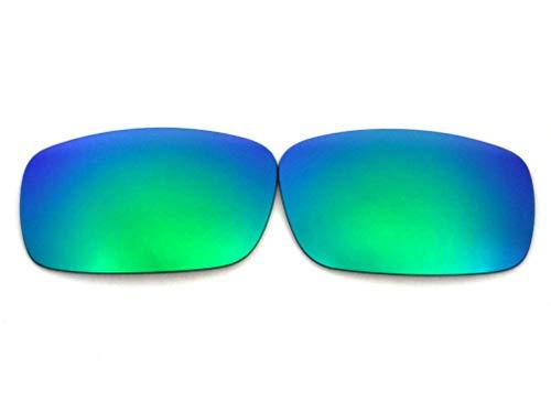 Galaxy vervangende lenzen voor Oakley krukas groen gepolariseerd 100% UVAB
