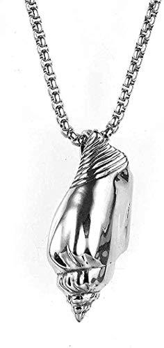 CCXXYANG Co.,ltd Collar Collar De Acero Inoxidable Joyas para Hombres Collar De Buceo Moda Concha De Concha Collar Colgante De Acero De Titanio Regalo para Mujeres Hombres Regalos