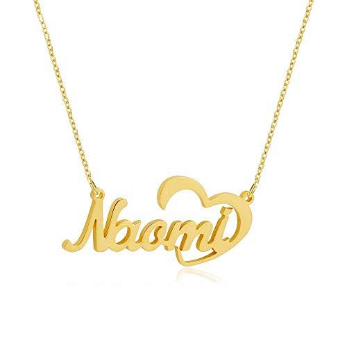 Collar personalizado con nombre colgante corazon plata 925 mujer collar nombre collar san valentin regalos mujer