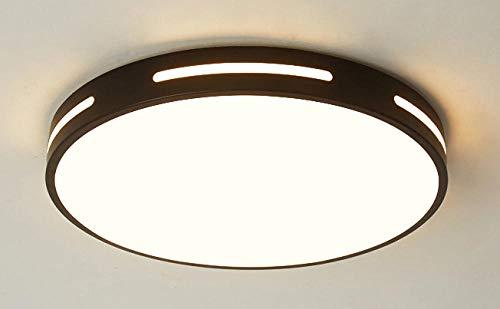 Moderne led-afstandsbediening dimmen plafondlamp creatieve ronde plafondlamp decoratieve verlichting voor studie slaapkamer woonkamer Foyer @zwart_Dia40X5Cm-24W_Rc dimmen