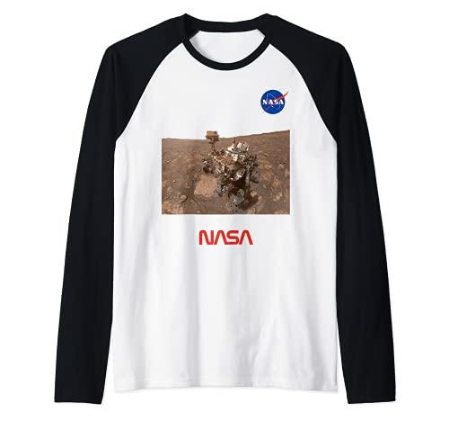 NASA Selfie De Curiosidad En La Ubicación De Mary Anning Camiseta Manga Raglan