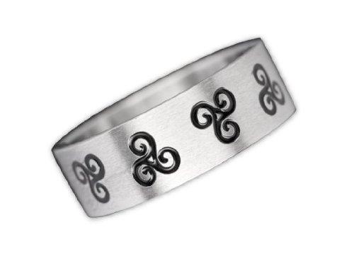 Toms-Silver Ring Triskele Edelstahlring Keltischer