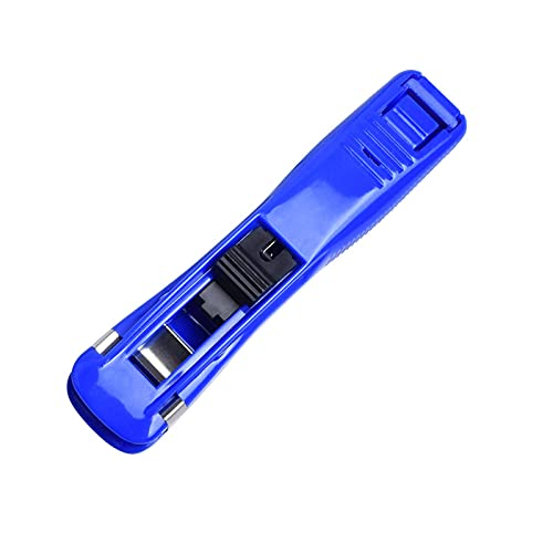 Trasurel - Dispenser per clip di carta, portatile, portatile, con mollette, per scrivania (blu)