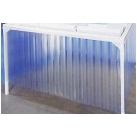 Softwall Cleanroom - quick ship 12 X 24 - Class 10,000 4 White powdercoat steel ceilng system White powdercoat tubular steel framework w/Steel base mounting plates 16 mil, standard clear vinyl curtains & 60 mil, heavy duty 4 ft strip door