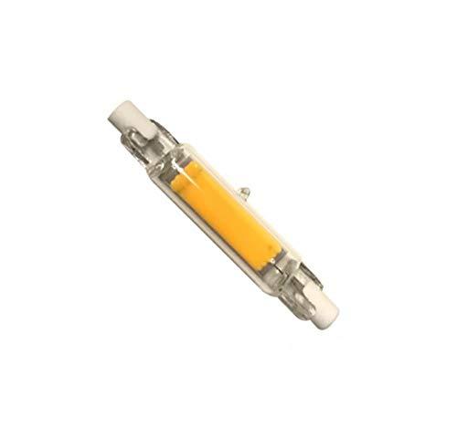 Bombillas halógenas superbrillantes Dimmable Led R7S Tubo de vidrio Cob Bombilla de cerámica 78Mm 118Mm R7S Lámpara de maíz 15W 20W J78 J118 Reemplazo de lámparas halógenas-Blanco cálido_Dimmable 20W