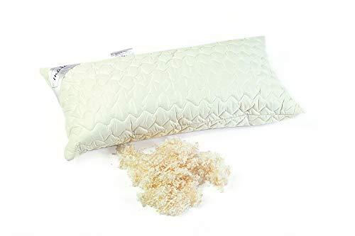 Mara Vital Zirbenkissen zum Schlafen gefüllt mit Zirbenholz und Schurwolle/Kissen für Seitenschläfer, Bauchschläfer & Rückschläfer/Nackenkissen mit 30% Tiroler Zirbenspäne (40 x 80 cm, Baumwolle)