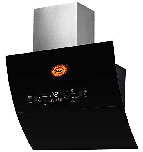 Surya Auto Glass Opening Kitchen Chimney (Rangehood) in Toughen Glass