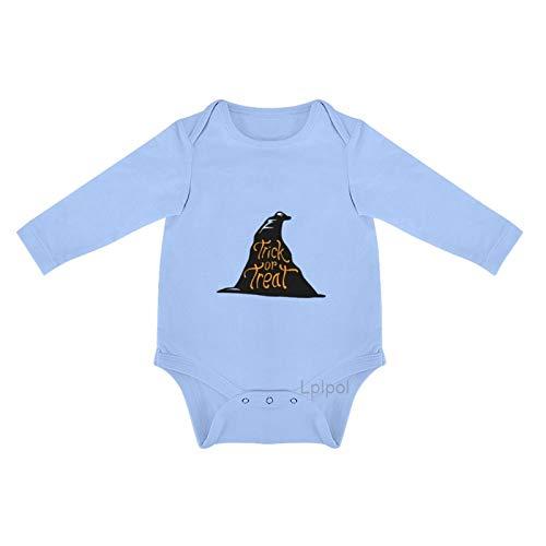 Lplpol truco o tratar en un sombrero de bruja negro beb algodn manga larga mono mono para beb unisex nias 0s8lp6q96qbk