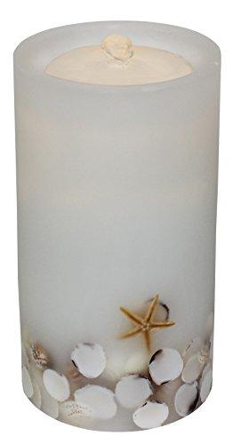 Bethlehem Lighting GKI AQUAFLAME White Seashell Flameless Candle/Fountain