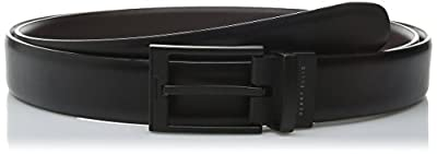 Perry Ellis Men's Big-Tall Portfolio Matte Buckle Belt, Black/Brown Reversible, 46