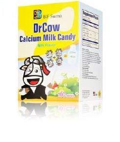 DrCow Calcium Milk Candy Best Tasting Milk Flavor Calcium Support for Kids,Children Bone Teeth Support 100 Count